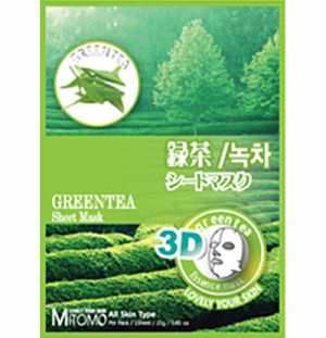 Mitomo 3D Face Mask Green Tea