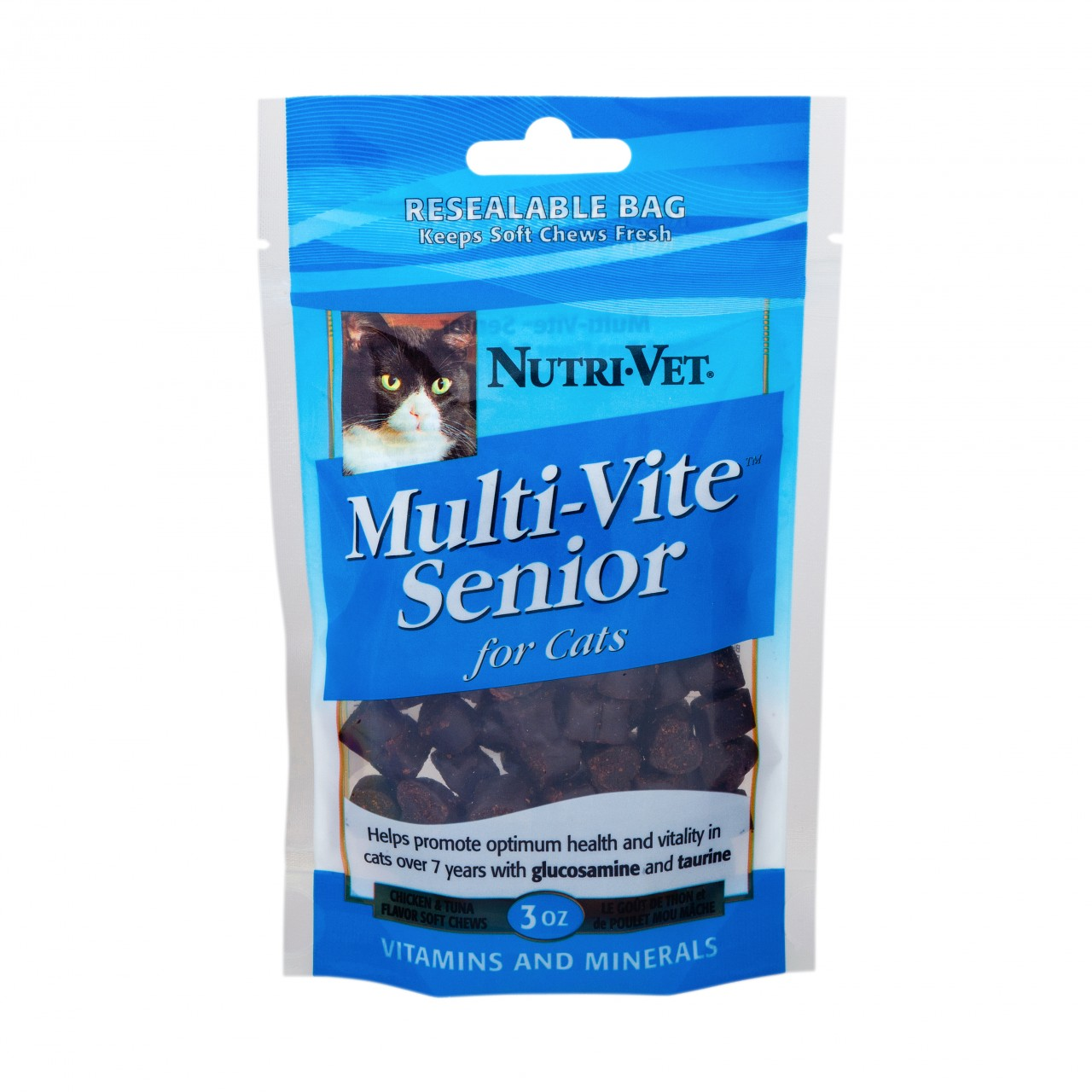Nutri-Vet Mutli Vite Senior Chicken & Tuna Flavor Soft Chews for