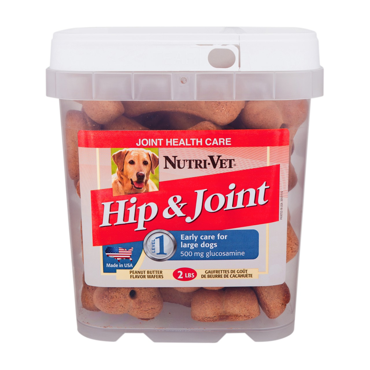 Nutri-Vet Hip & Joint Level 1 Peanut Butter Wafers for Large Dog