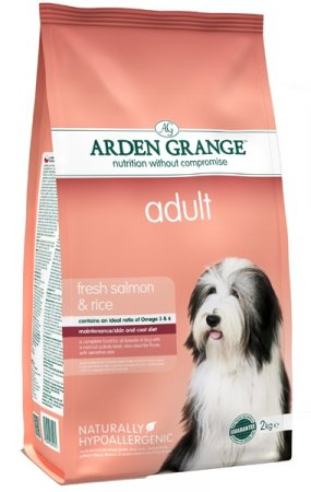 Arden Grange Adult dog rich in Fresh Salmon & Rice 4.4lb