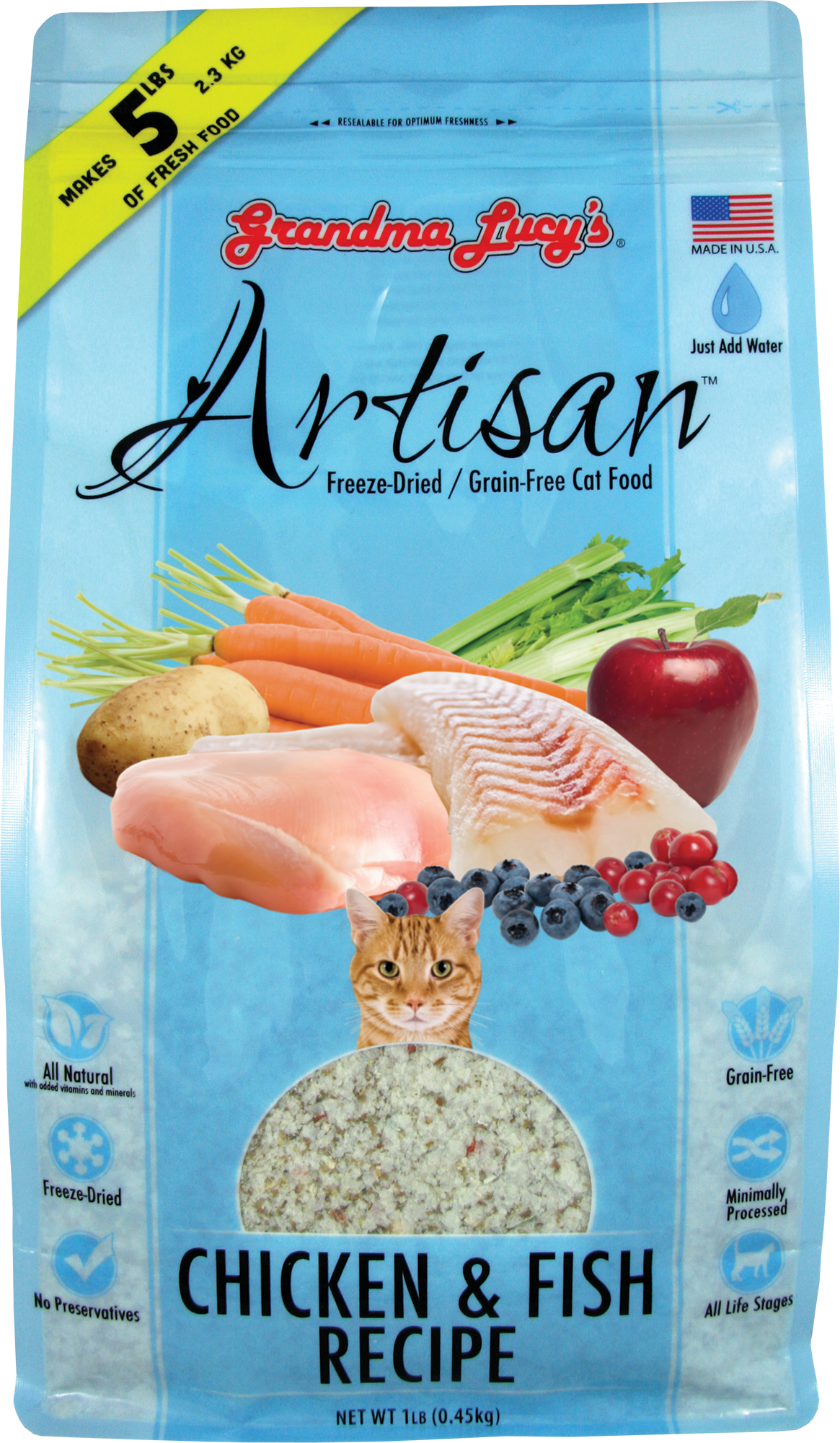 Grandma Lucy's Artisan Chicken & Fish Cat Food 1lb