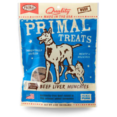Primal Freeze Dried Beef Liver Munchies 20z