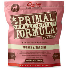 Primal Freeze Dried Canine Turkey Sardine 14oz