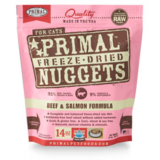 Primal Freeze Dried Feline Beef Salmon 14oz