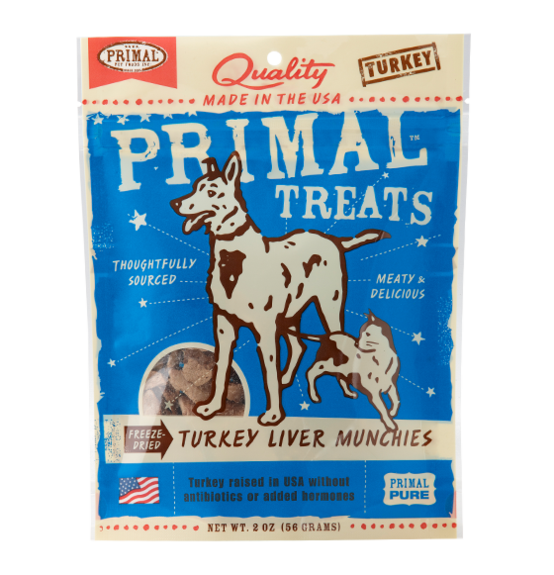 Primal Freeze Dried Turkey Liver 2oz