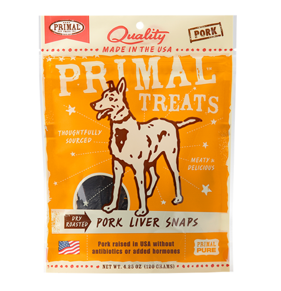 Primal Dry Roasted Pork Liver Snaps 4.25oz