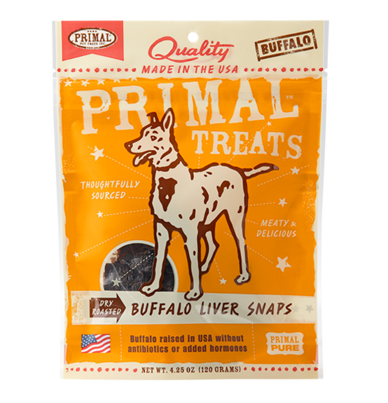 Primal Dry Roasted Buffalo Liver Snaps 4.25oz