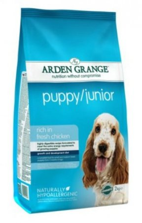 Arden Grange Puppy/Junior rich in Fresh Chicken 4.4lb - Click Image to Close