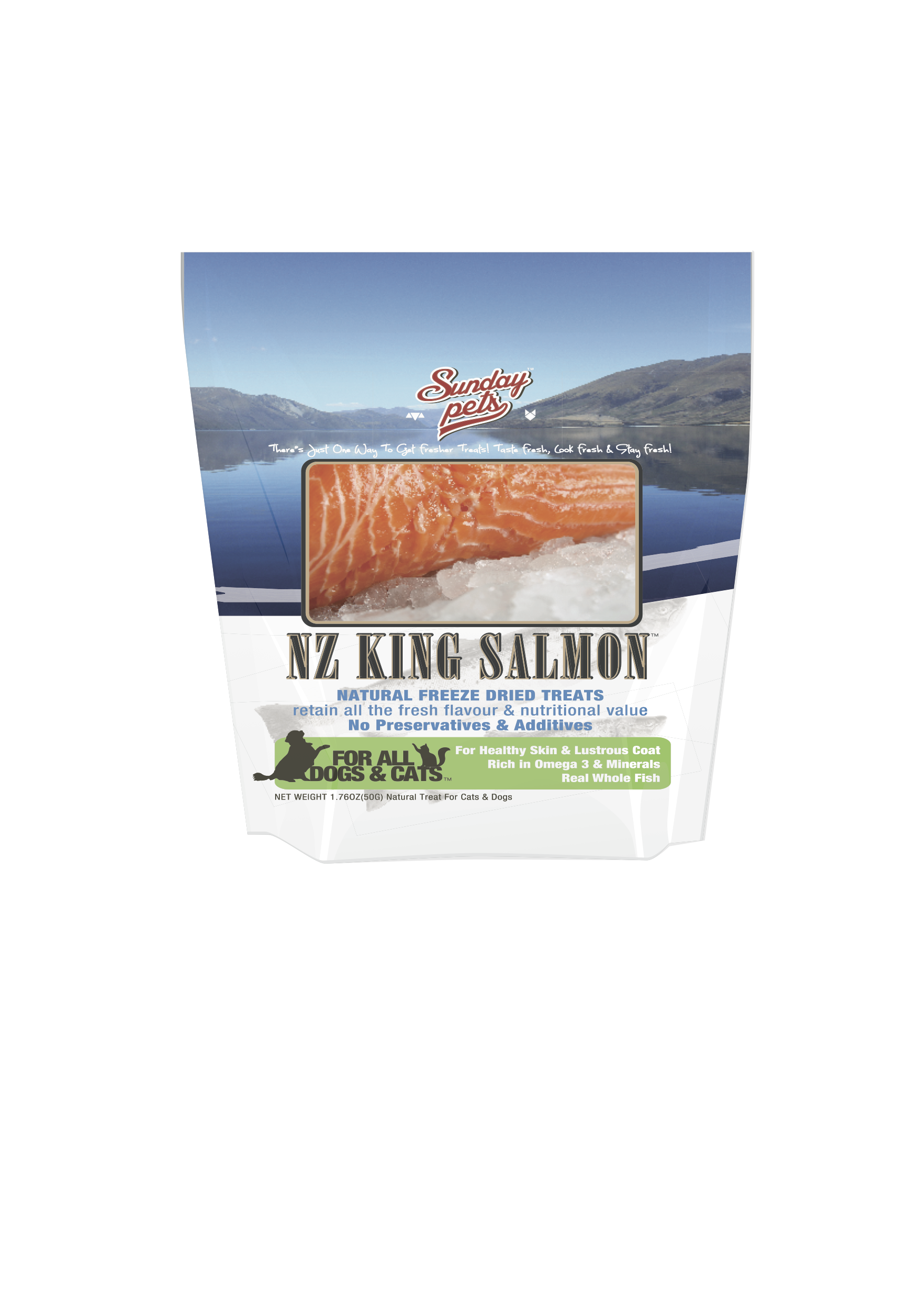Sunday Pets Freeze Dried King Salmon