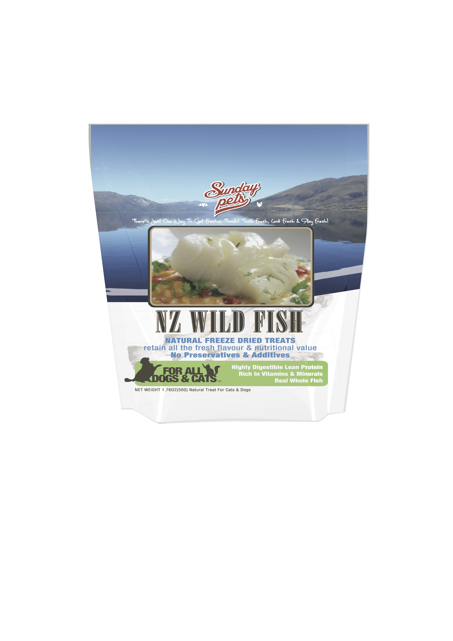 Sunday Pets Freeze Dried Cod