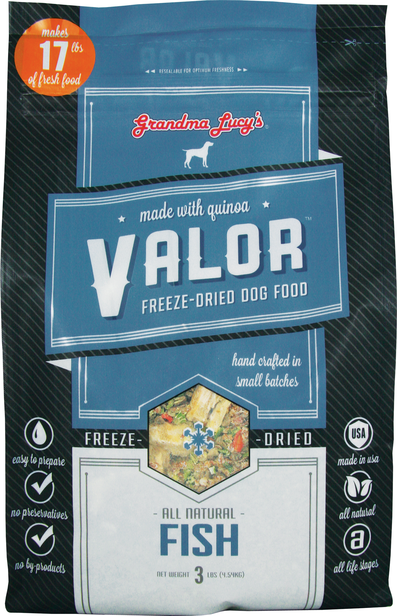 Grandma Lucy's Valor Freeze Dried Fish 3lb