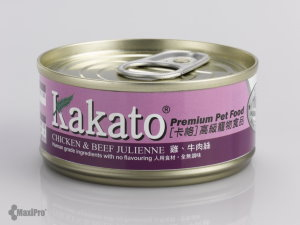 Kakato Chicken & Beef Julienne Canned Food (70g)