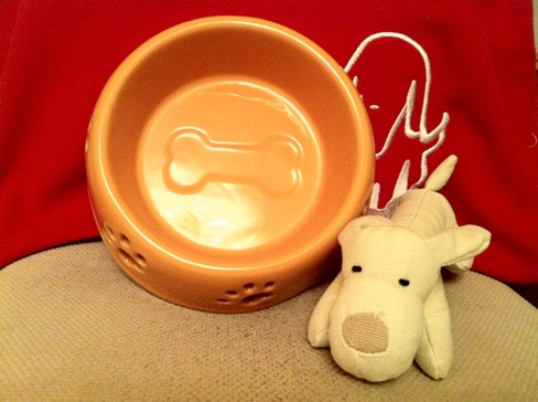 Just-pet ceramic dog bowl