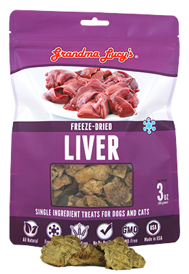 Grandma Lucy's Freeze-Dried Just Liver Pet Treats -4oz