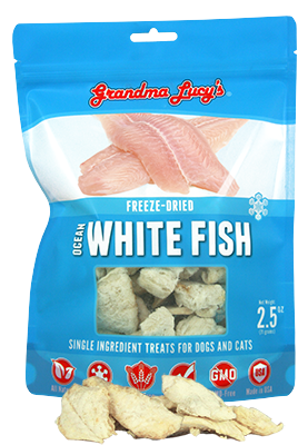 Grandma Lucy's Freeze-Dried Just Ocean White Fish Pet Treats