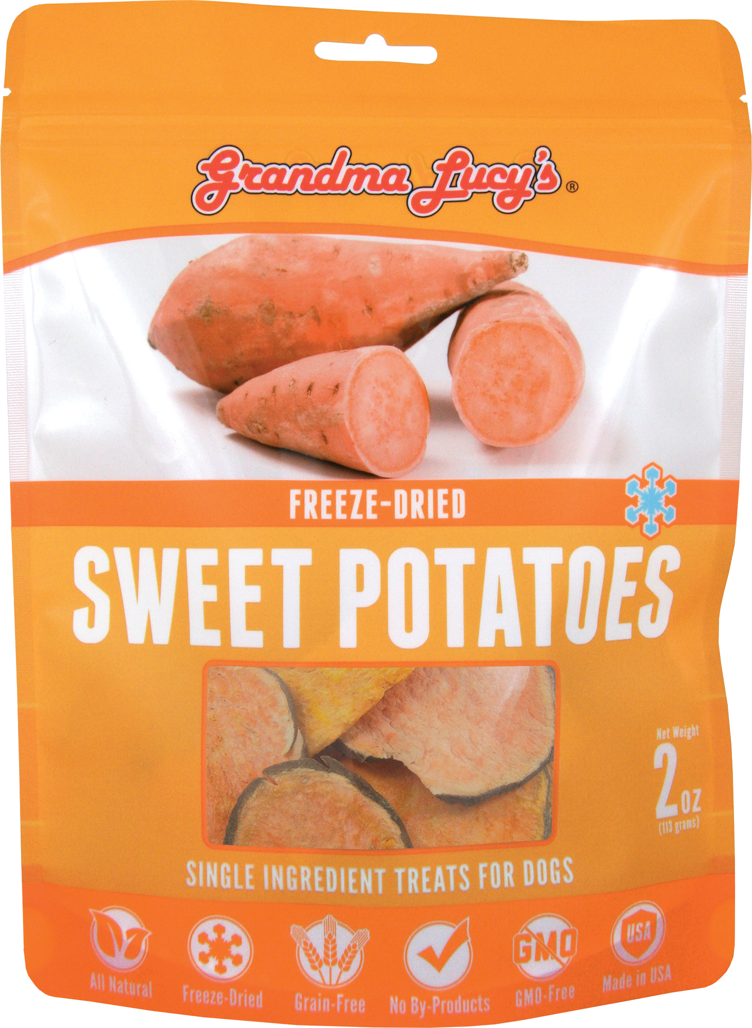 Grandma Lucy's Freeze Dried Sweet Potatoes 2oz - Click Image to Close