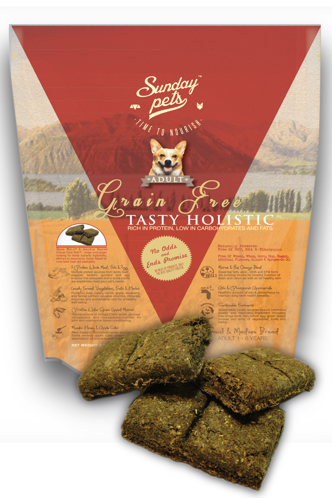 Sunday Pets Tasty Holistic Grain Free Adult 3.3lb