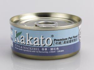 Kakato Cat & Dog Tuna & Mackerel Canned Food 70g