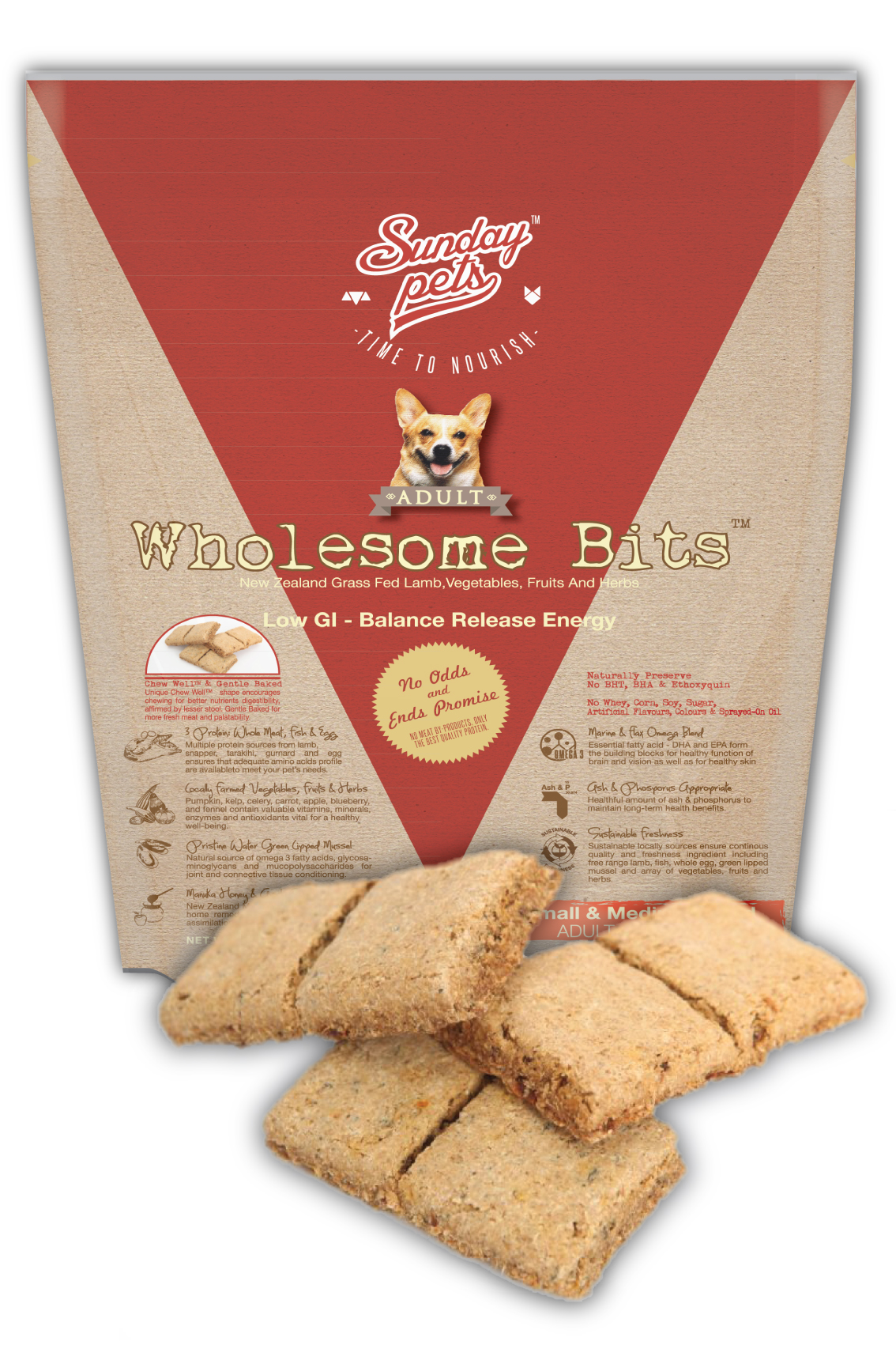 Sunday Pets Wholesome bits Adult 3.3lb